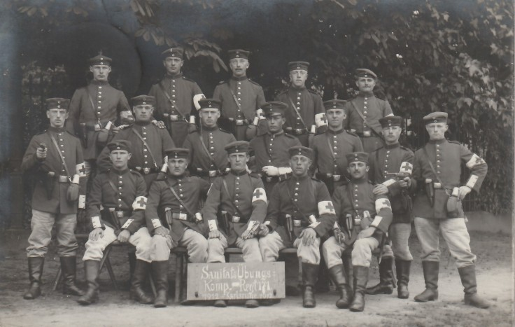 1912.07.11 A Karlsruhe SanitätsübungsKomp