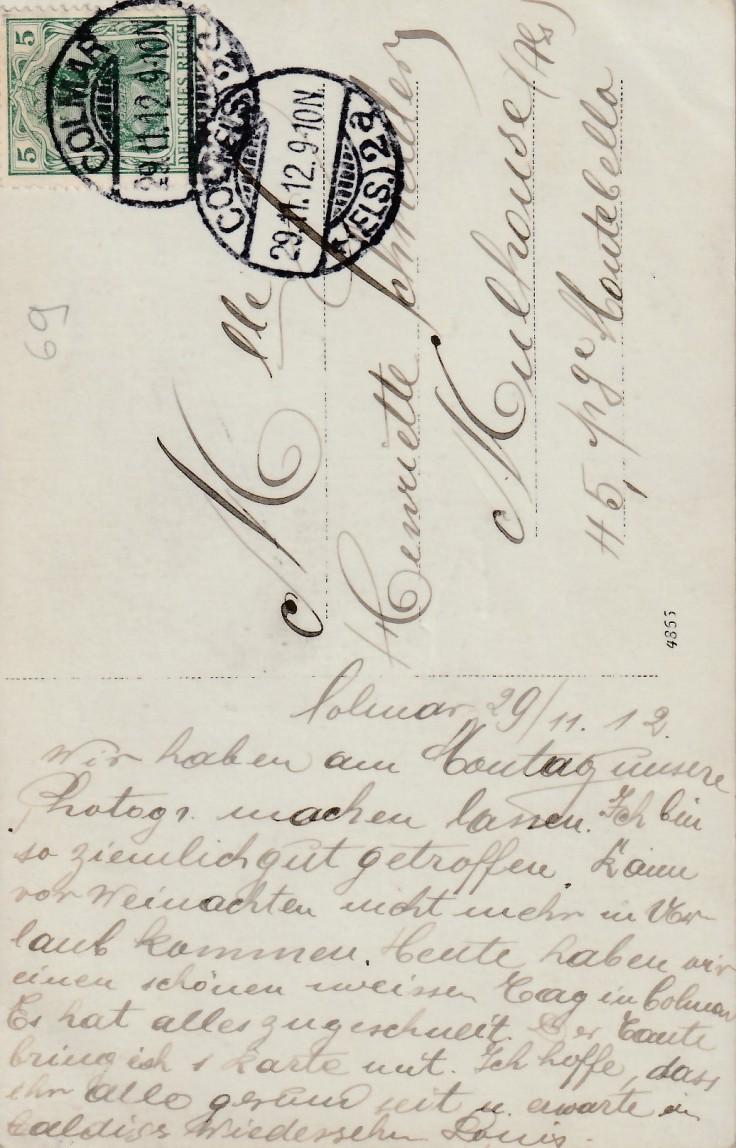 1912.12.11 B Colmar Sanitätsschule