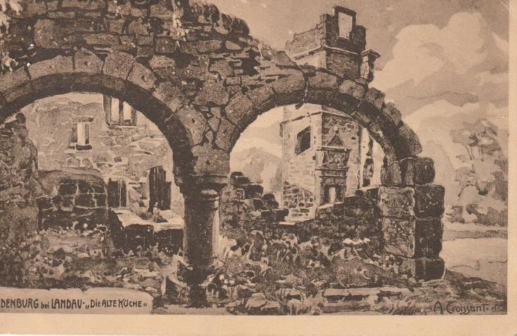1914.08.09 A Madenburg bei Landau