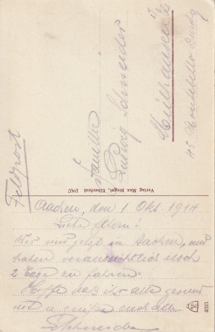 1914.10.01 B Aachen