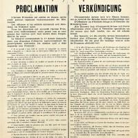 1914 : Loi martiale française en Alsace