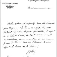 1914 : Le baiser de Joffre à Thann