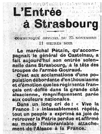 1918 PETAIN STRASSBURG