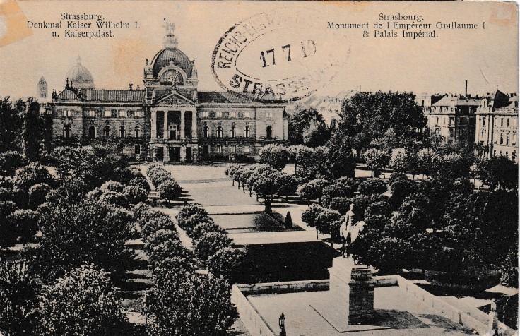 1919 tampon poste elsass