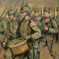 1914/18 : Feldgrauen de Neuweiler morts au combat