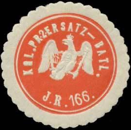 Siegelmarke_L.Pr._2._Ersatz-Bataillon_Infanterie_Regiment_166_W0346838